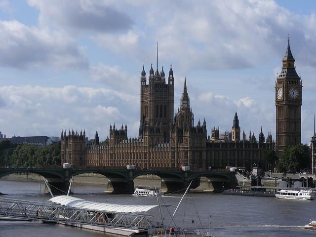 Parliment taken from charing cross bridge