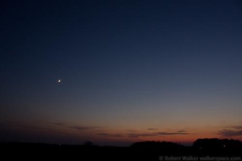 sunset sky moon night stars xsi canonxsi