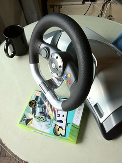 Microsoft wireless racing wheel with force feedback | by fisio