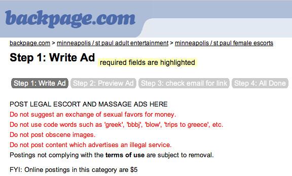 Backpage.com's Fees