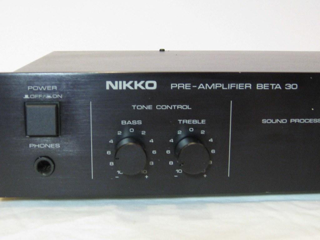 Nikko Preamp (2) | POWER AMPLIFIER Model ALPHA 130 PRE AMP M