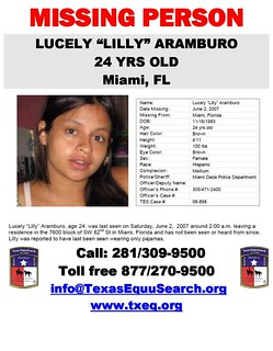Lilly Aramburo Texas Equusearch Flyer | by seoyogini
