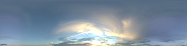 Hyperfocal HDRI Skies: Swirling Sunset | A good general use
