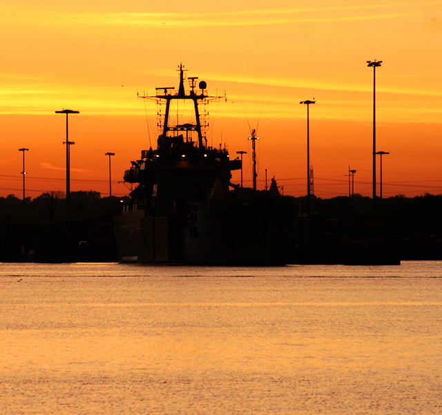 Navy ship at marchwood