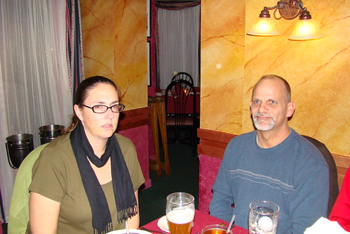 Another shot of Amber and Bill at the restaurant