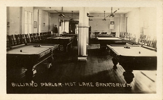 Billiard Parlor, Hot Lake Sanatorium, 1922
