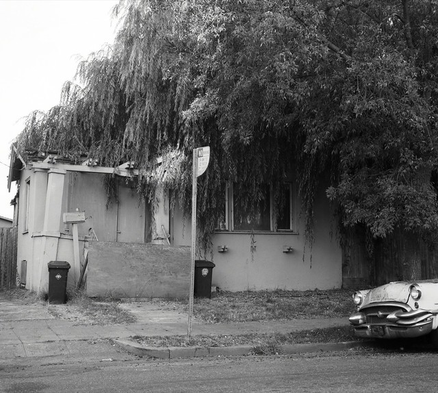 Abandoned house with Buick
