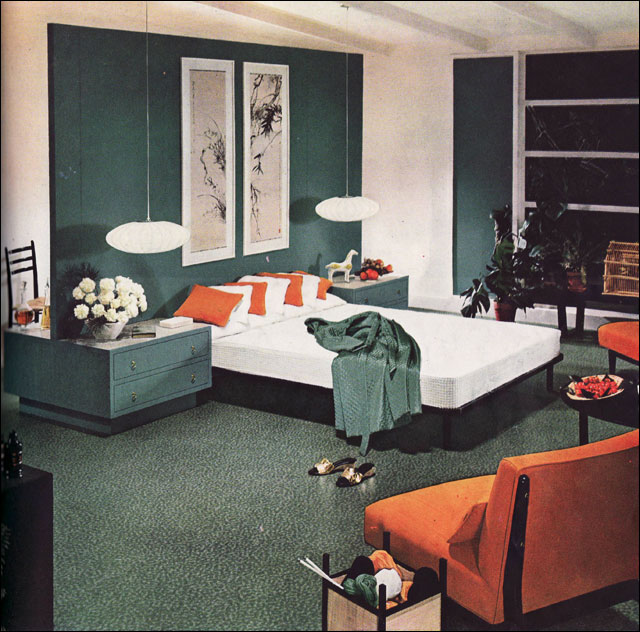 1954 Armstrong Mid Century Modern Bedroom | This image was p ...