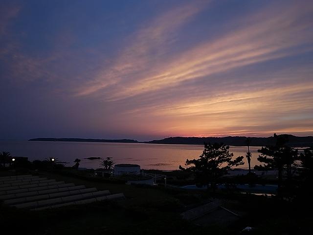 <p>日が沈みました。</p>
