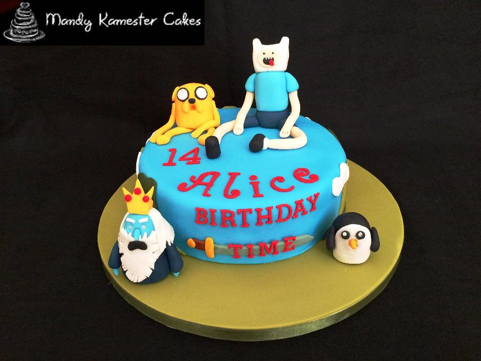 Astounding Adventure Time Birthday Cake Birthday Cake Made For A Fan Flickr Funny Birthday Cards Online Fluifree Goldxyz