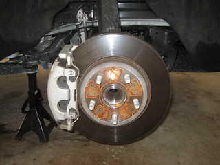 2014 Dodge Durango SUV - Front Brake Caliper, Bracket, Rotor - Changing Pads
