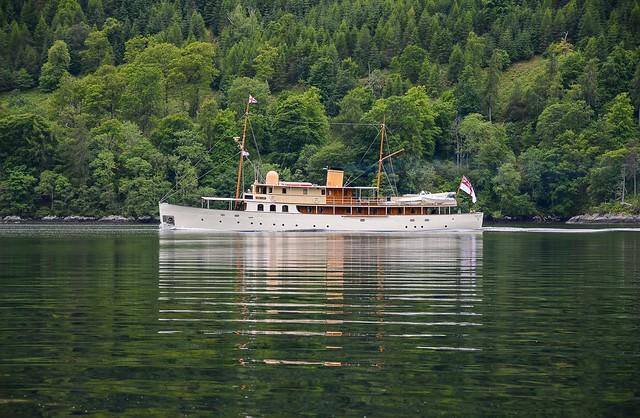 Steam boat on Loch Duich