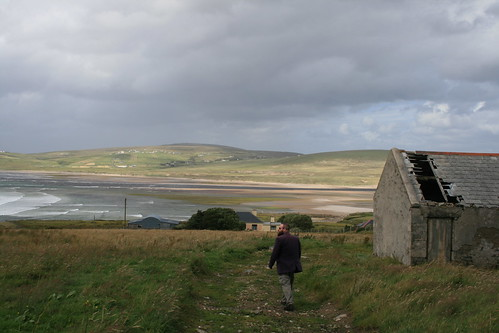 ireland sea cloud view ruin broadhaven dooncarton