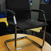 E50 chrome and leatherette meeting chair