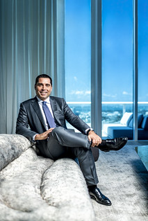 Riccardo Silva relaxing in his penthouse in Miami