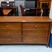 Large 6 drawer sideboard dark wood