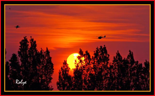 3-3131 Sunset Le Havre in France 日落 선셋 해 헬리콥터