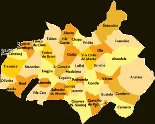 Concelho De Amarante Portugal Mapa Das Freguesias Jorge
