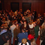 Sat, 17/11/2001 - 11:28am - Marquee members and WFUV staff mingle after watching John Hiatt's Marquee performance