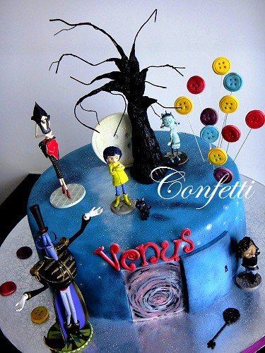 Stupendous Coraline Cake Be Careful What You Wish For Marina Flickr Funny Birthday Cards Online Inifodamsfinfo