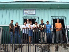 The Potable water school with its students and Gilles Burkhardt, the professor