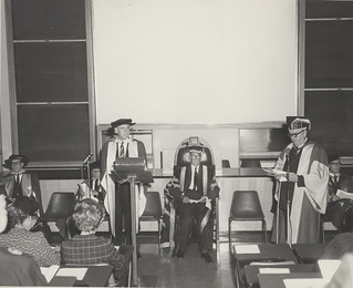 The Hon. C.B. Cutler being presented for an Honorary Degree at  the University of Newcastle, Australia | by UON Library,University of Newcastle, Australia