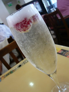 Prosecco with raspberries | by WordRidden