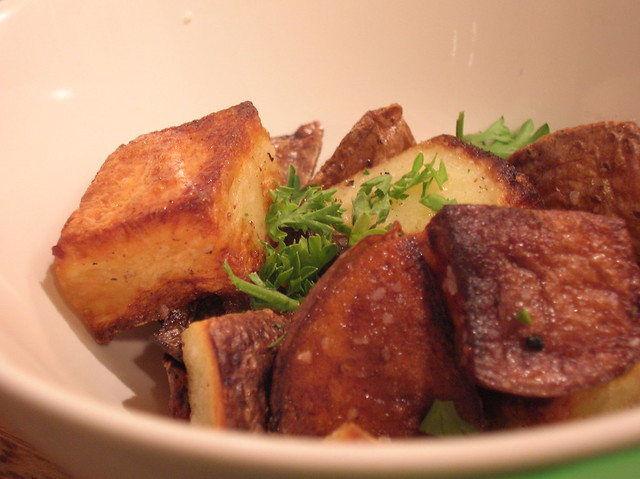 Roasted Potatoes -- different light
