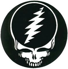 Grateful Dead Steal Your Face plain black & white design