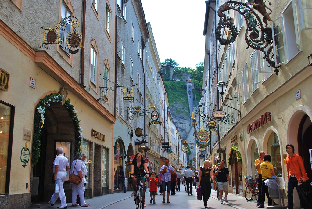 Old town-one of the ain attractions in Salzburg