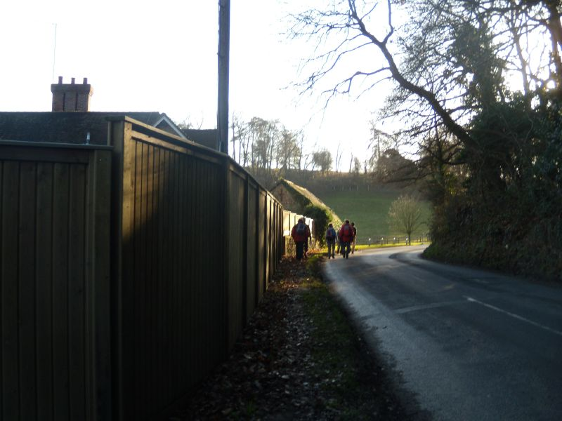 Approaching Watts' Chapel Guildford Circular