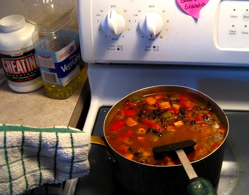 Chili, stove