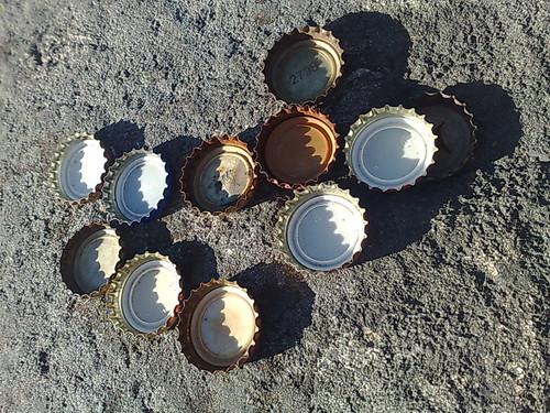 Finnish beer bottle caps