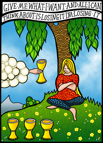 Four Of Cups - Luxury | Another tarot card    lyrics from Th… | Flickr