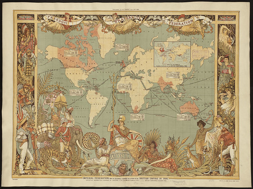 Imperial Federation, map of the world showing the extent of the British Empire in 1886 | by Norman B. Leventhal Map Center at the BPL