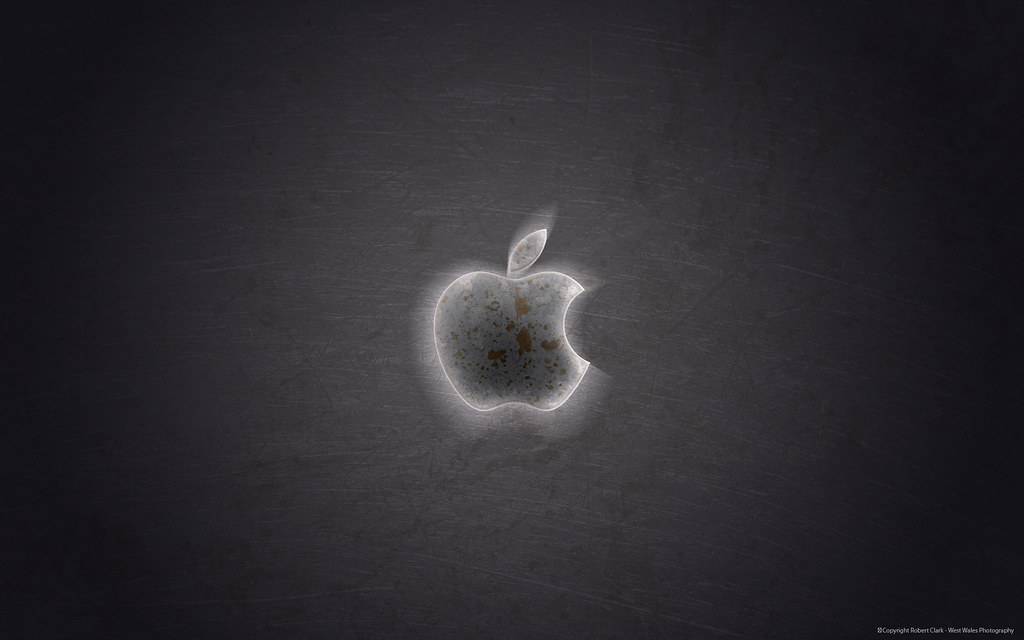 Grunge Apple Logo Wallpaper Give Your Mac A Dark Side With