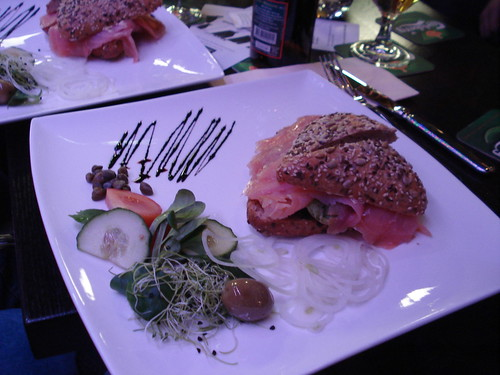Lachs-sanwich im Christoffel Bern