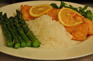 Brown Sugar and Lemon Glazed Salmon 041410W | by vmiramontes