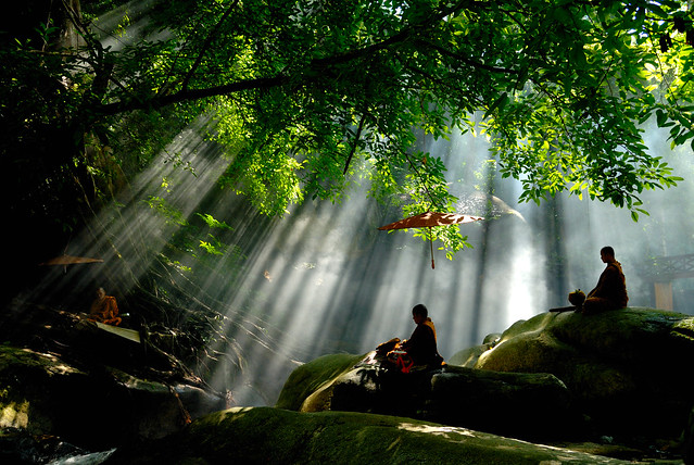 Monks are in natural meditation.