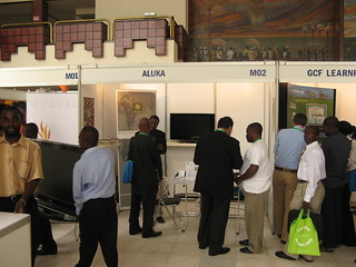 Aluka booth at eLearning Africa 2008 in Accra, Ghana