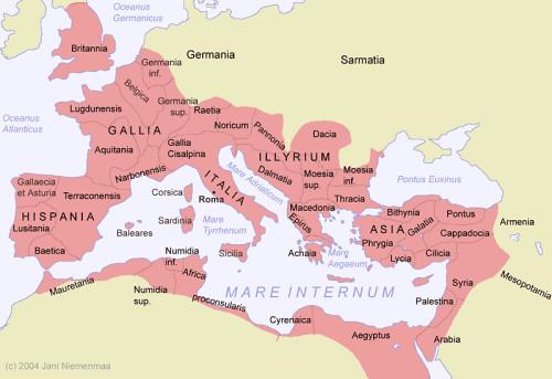 Verbazingwekkend Romeinse rijk. | Kaart van het Romeinse rijk. | magnusconstantinus BL-42