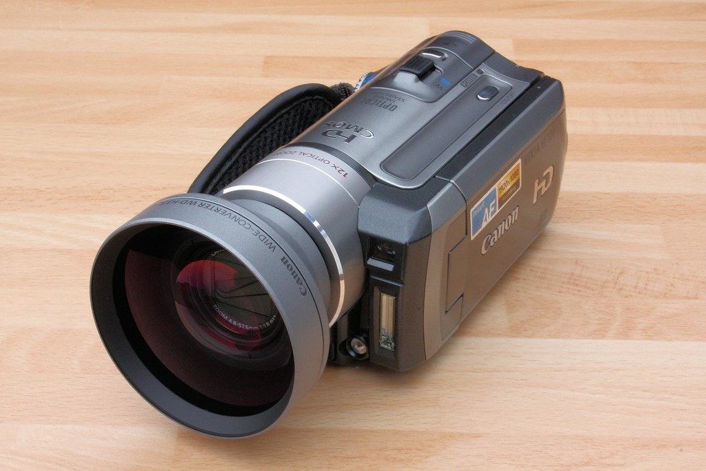 Canon HF100 (STOLEN) with WD-H37C Wide Converter hd (STOLE… | Flickr