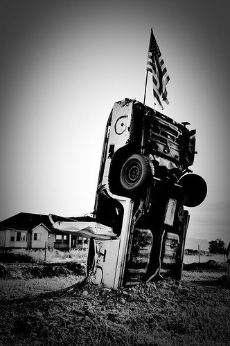 morning sky blackandwhite field car sunrise garden utah junk flag stonehenge redneck scrap usflag nikond90