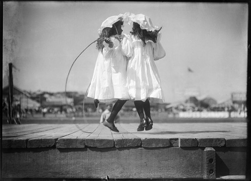 Girls skipping at an athletics carnival | by Powerhouse Museum Collection