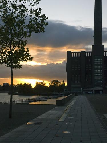 sunset architecture germany deutschland sonnenuntergang dusk architektur wolfsburg autostadt abenddämmerung olympuse3