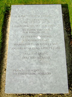 Francis Ledwidge, Island of Ireland Peace Park | by R/DV/RS