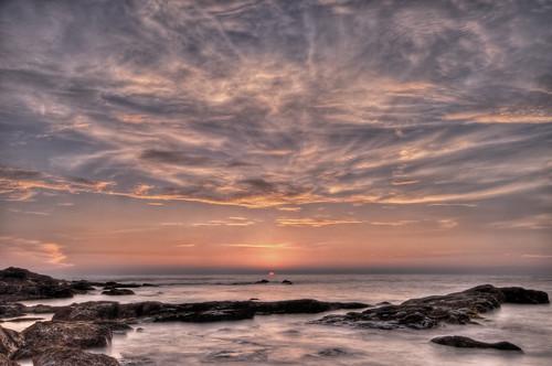 sunset sky sun india color beach water clouds photoshop movement nikon rocks raw tripod goa 2008 hdr d300 photomatix sigma1020 littlevagator ozrant