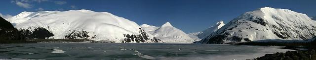 Stitched shot of a semi-frozen Portage Lake (view on Large)