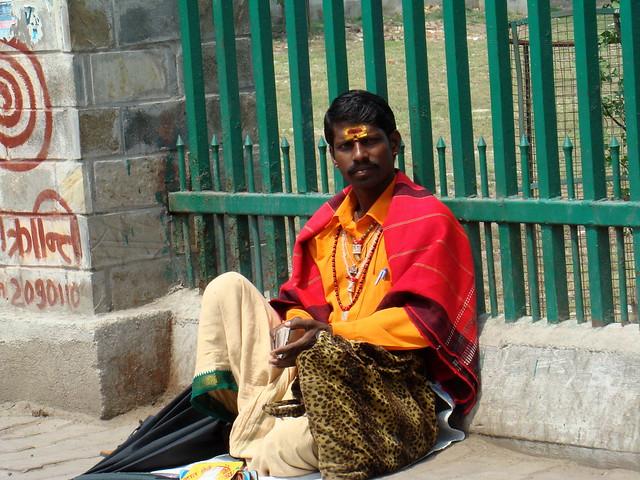 Nepal su gente caras pintadas 018