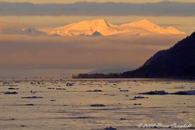 Early morning 1st day of the cruise in Alaska